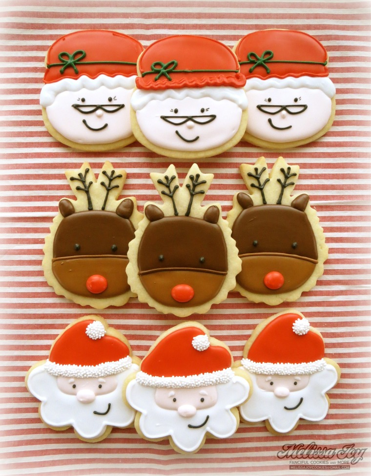 Santa and Mrs. Claus Cookies by melissa joy