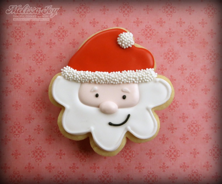 Santa Cookies by melissa joy cookies