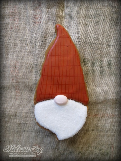 Santa Gnome Cookie by Melissa Joy