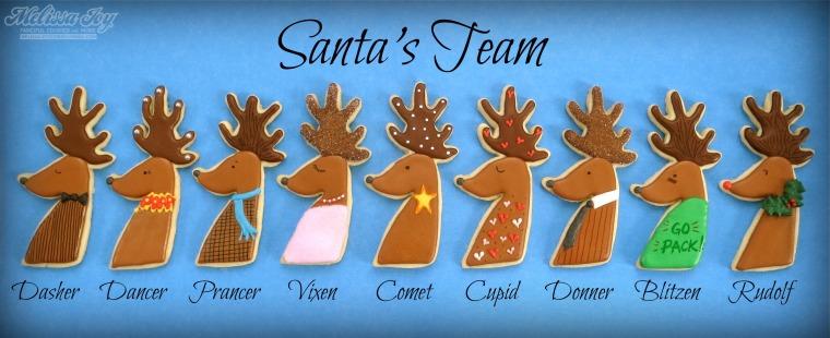 Santa's Reindeer by Melissa Joy