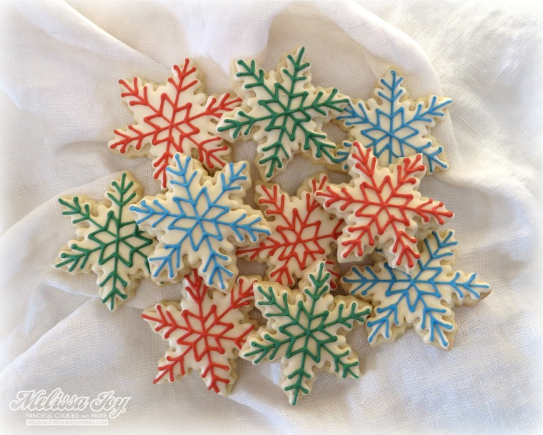 snowflakes by melissa joy cookies