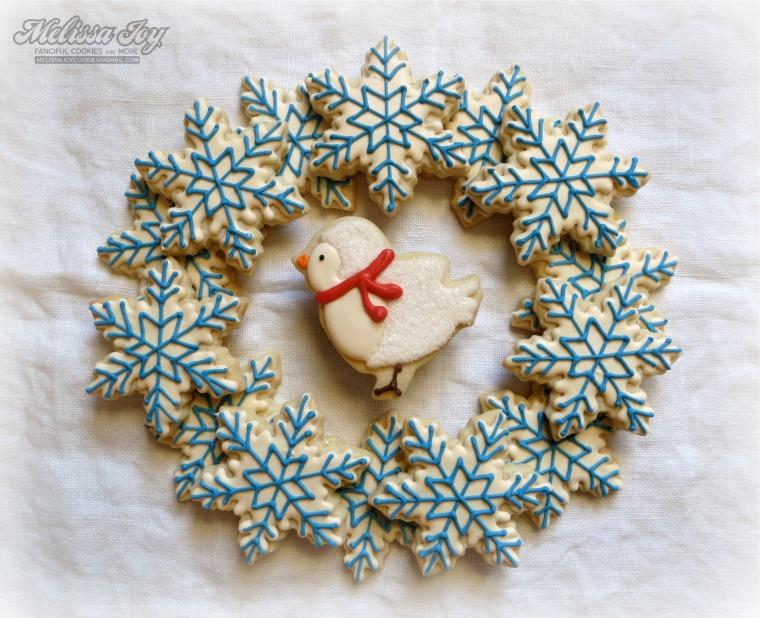 Sweet Snow Bird by Melissa Joy Cookies