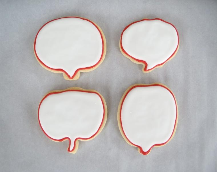 Speech Bubble Cookies by Melissa Joy