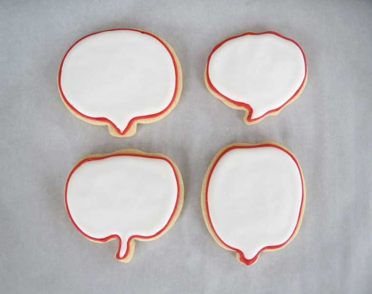 Speech Bubble Cookies by Melissa Joy