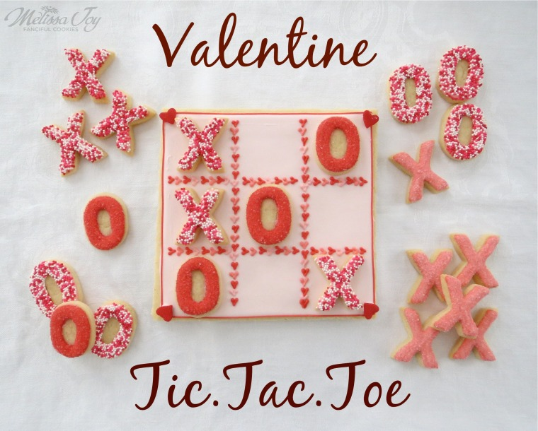 Valentine Tic Tac Toe Cookies by Melissa Joy