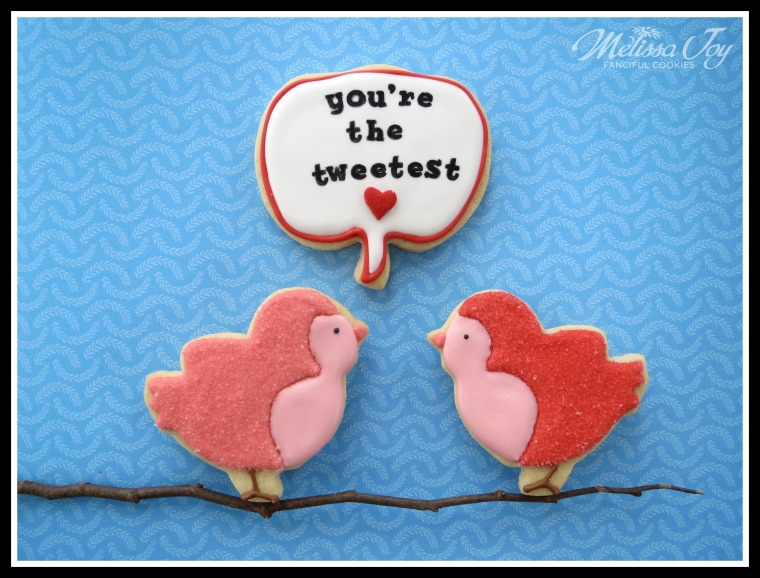 Valentine's Day Cookies-Birds by Melissa Joy Cookies