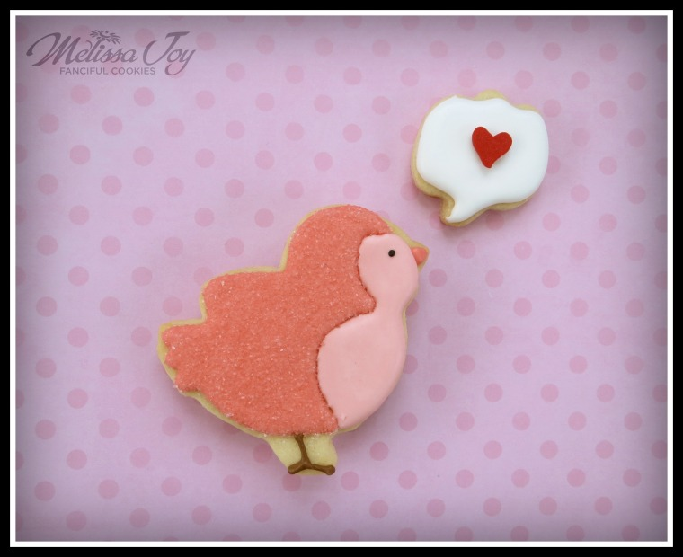 Valentine's Day Speech Bubble Cookie by Melissa Joy