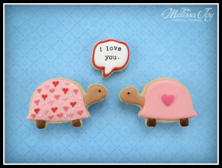 Valentine's Day speech bubble cookies by Melissa Joy