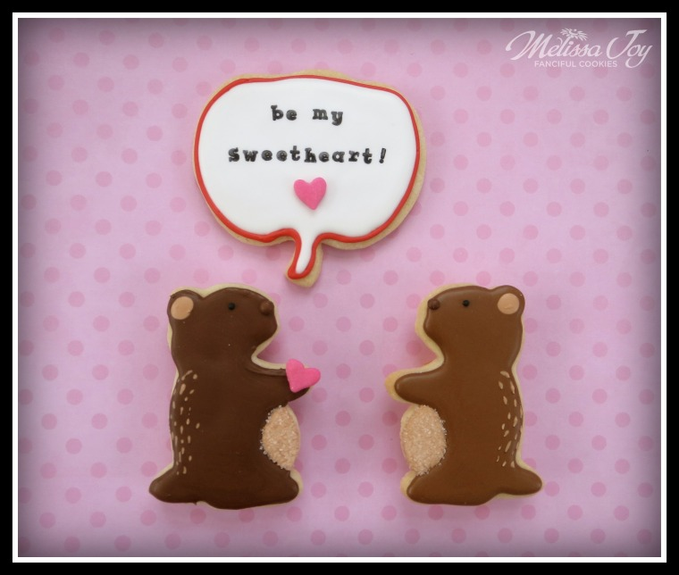 Valentine's Day Woodchuck Cookies by Melissa Joy