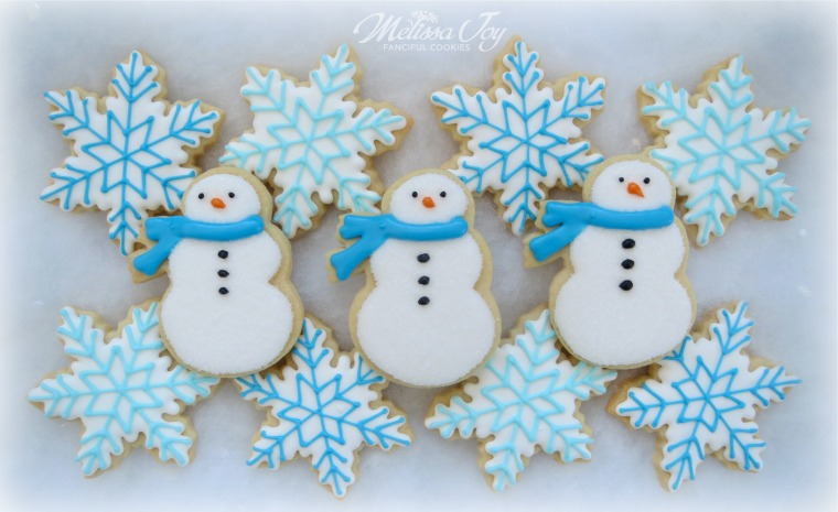 snowmen cookies by melissa joy