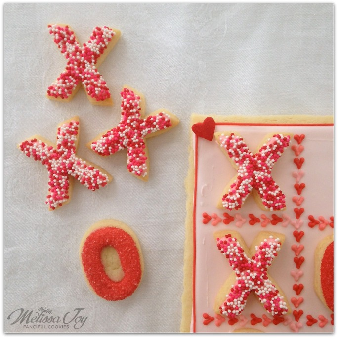 xoxo tic tac toe by melissa joy cookies