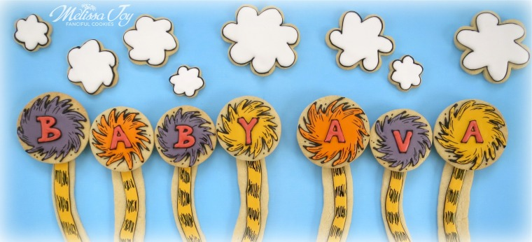 Dr. Seuss Baby Shower Cookies by Melissa Joy