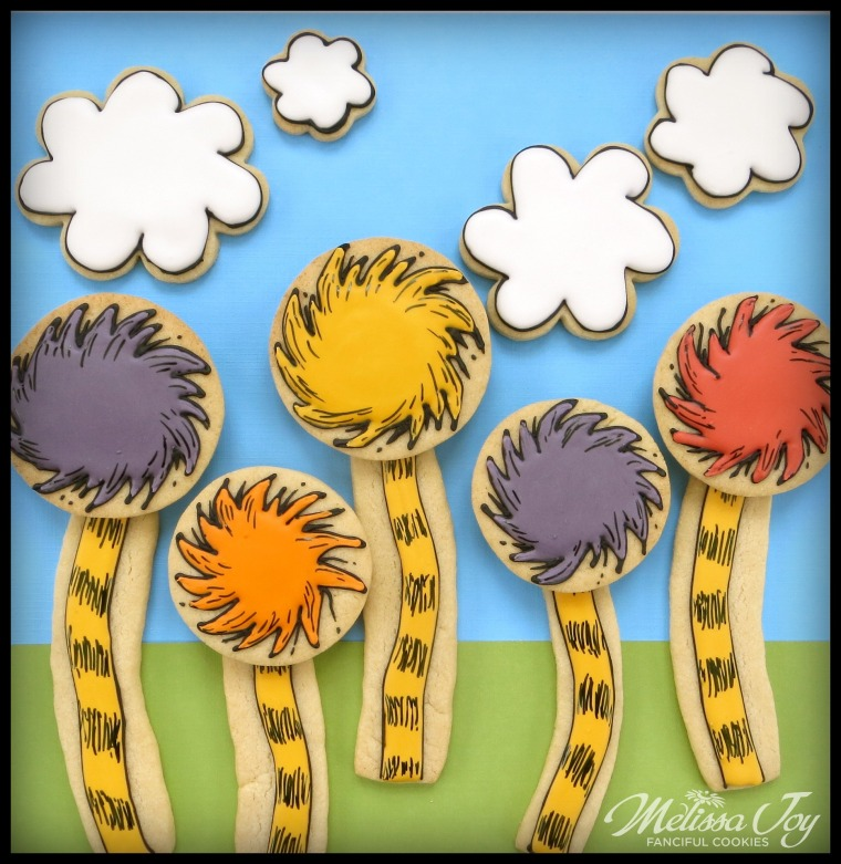 Dr. Seuss The Lorax Truffula Trees Cookies by Melissa Joy Cookies