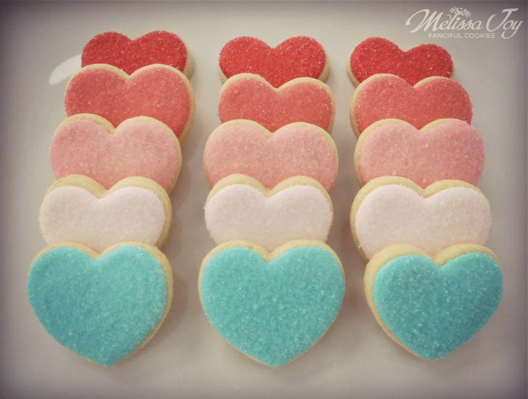 simple heart cookies by melissa joy cookies