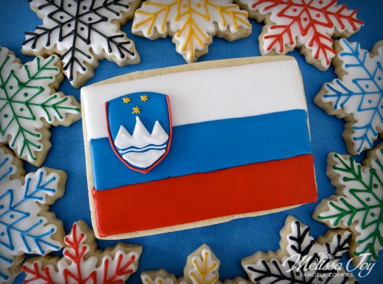 Slovenia Flag by Melissa Joy Cookies