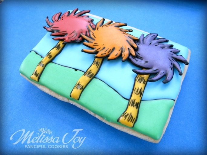 The Lorax Truffula Tree Cookies by Melissa Joy