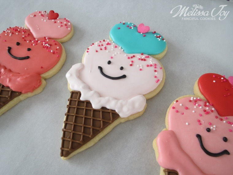 Valentine Ice Cream Cookies by Melissa Joy