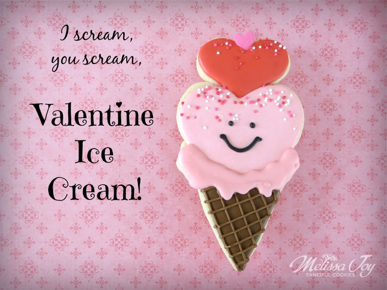 Valentine Ice Cream Cookies from Melissa Joy Cookies