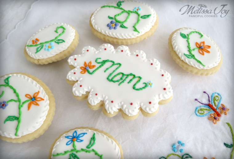 Embroidery Cookies and Photo Tips