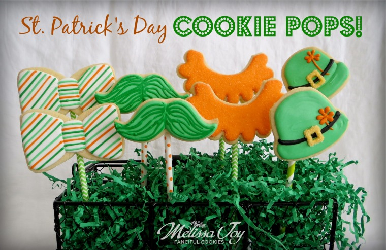 St. Patrick's Day Cookie Pops by Melissa Joy Cookies