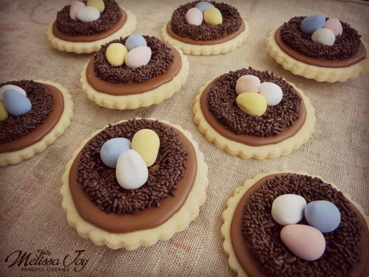 Bird Nest Cookies by Melissa Joy Cookies