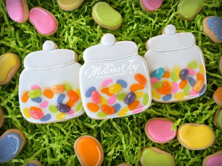 Jelly Bean Jar Cookies by Melissa Joy