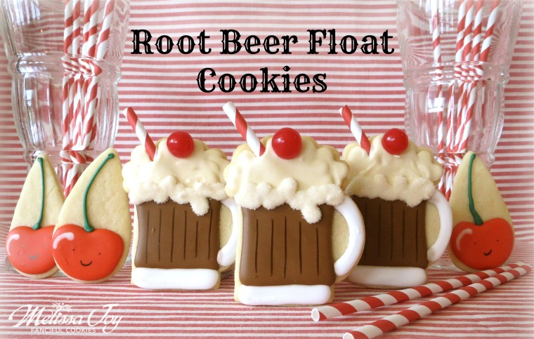 Root Beer Float Cookies by Melissa Joy Cookies