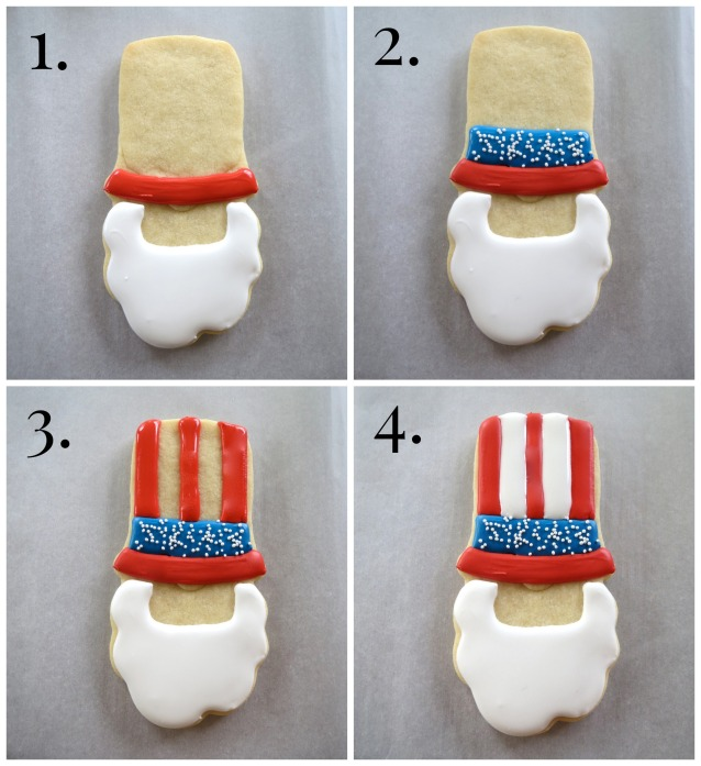 Big Uncle Sam Cookie How To