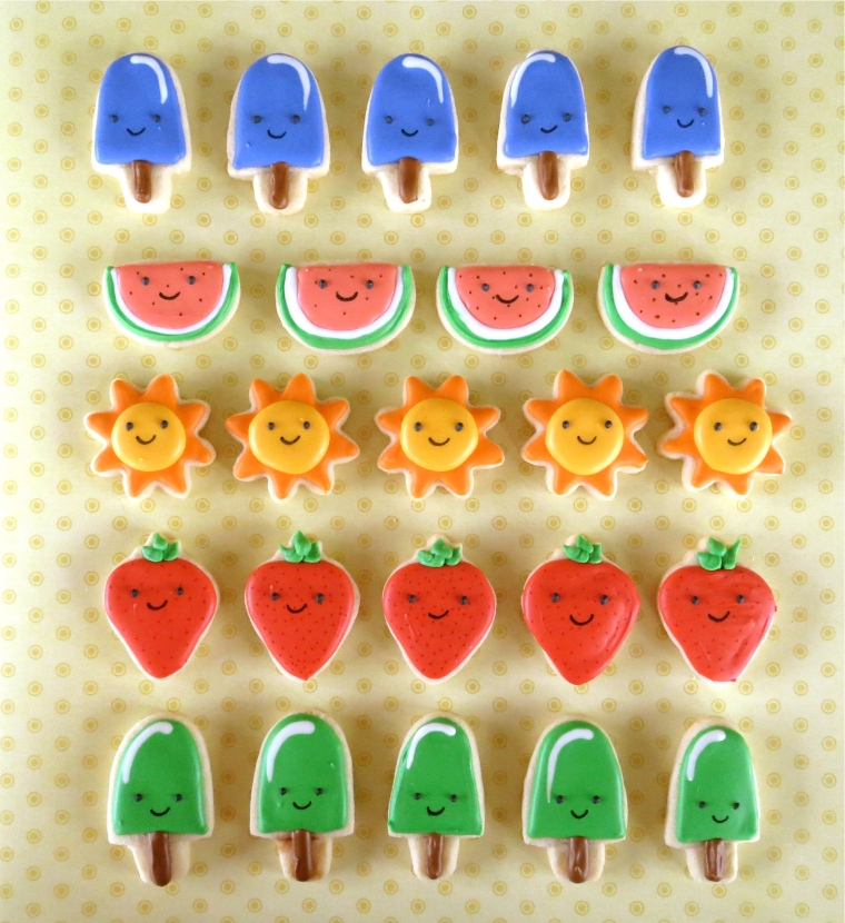 Tic Tac Toe Cookie Game Pieces by Melissa Joy Cookies