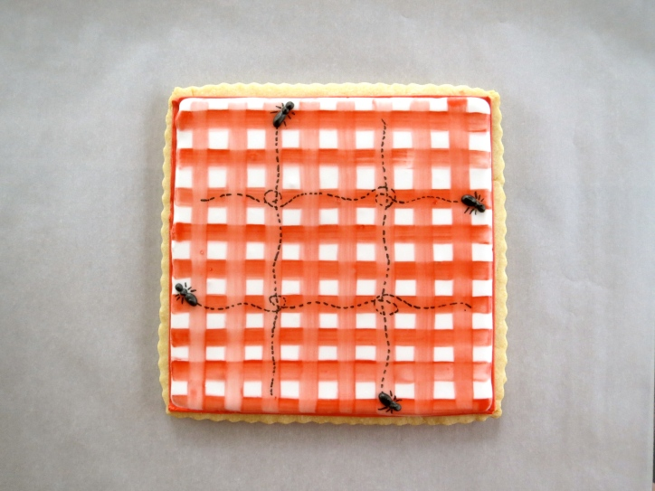 summer tic-tac-toe cookie by melissa joy cookies