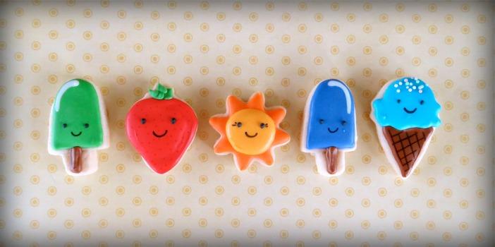 summer mini cookies