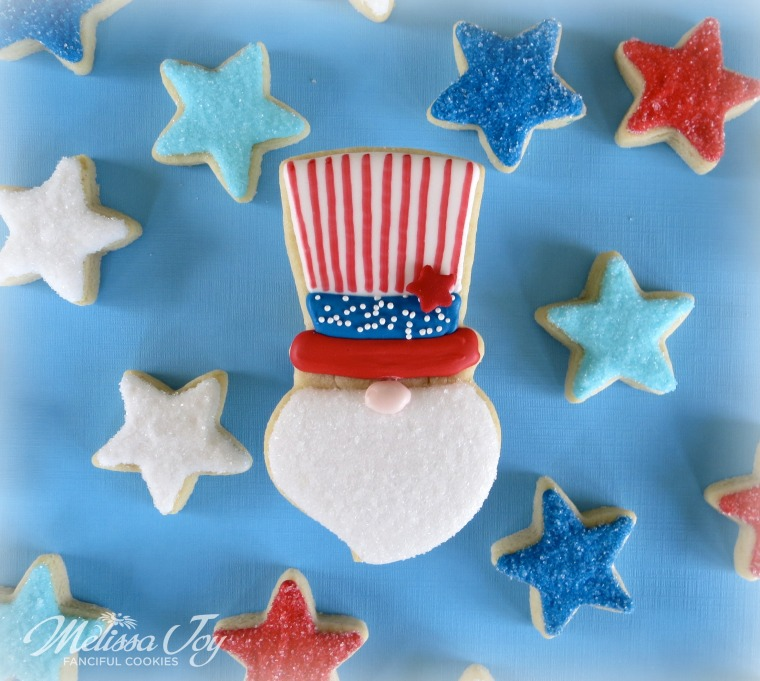 Uncle Sam Cookie by Melissa Joy Cookies