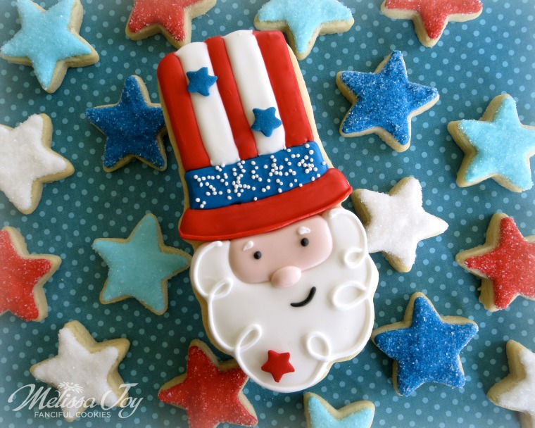 Uncle Sam Cookie by Melissa Joy