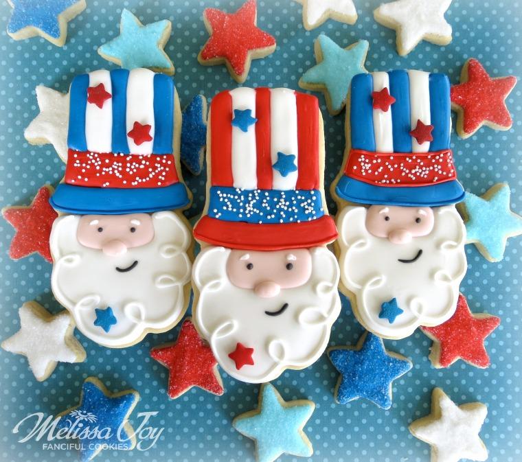Uncle Sam Cookies by Melissa Joy