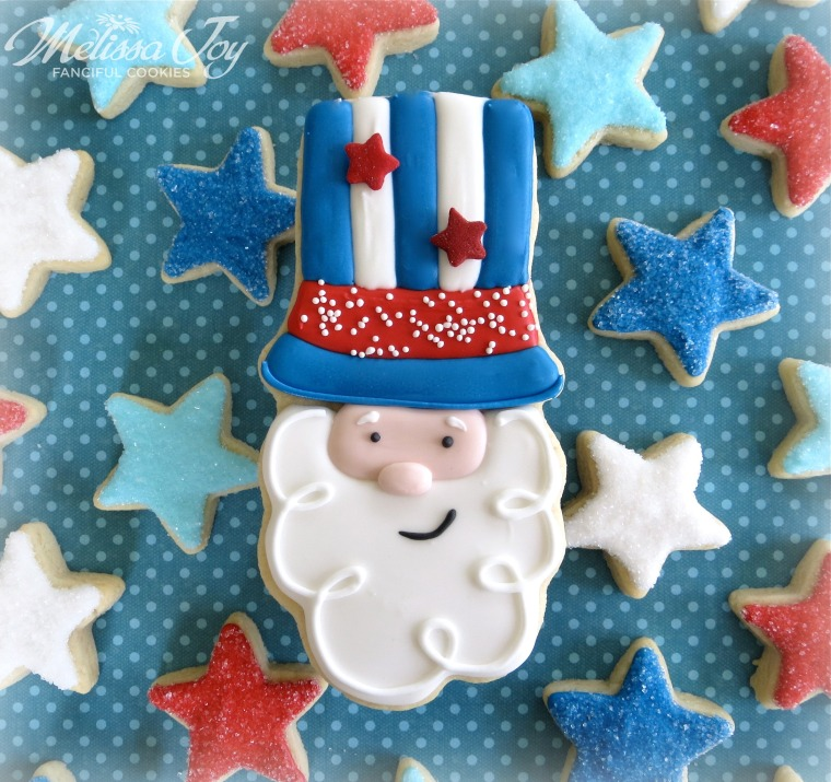 Uncle Sam Cookies by Melissa Joy