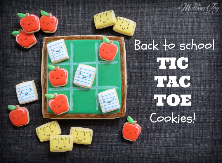 back to school tic tac toe cookie by melissa joy