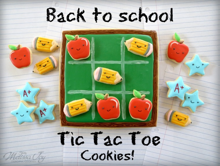 Back to School Tic-Tac-Toe Cookies by Melissa Joy
