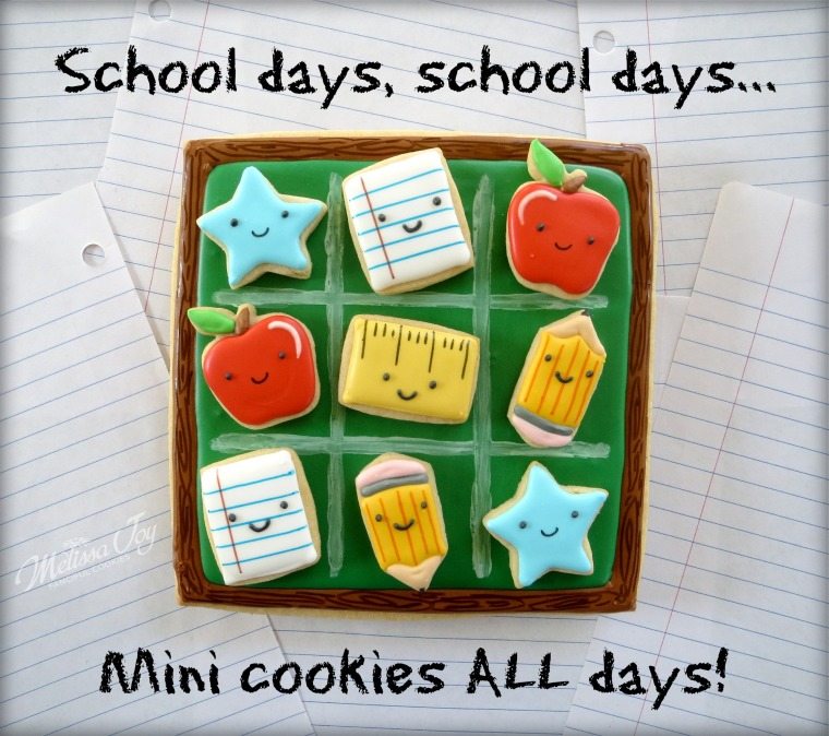 Mini back to school cookies by melissa joy