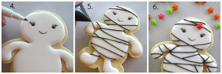 Easy mummy cookie how-to part 2