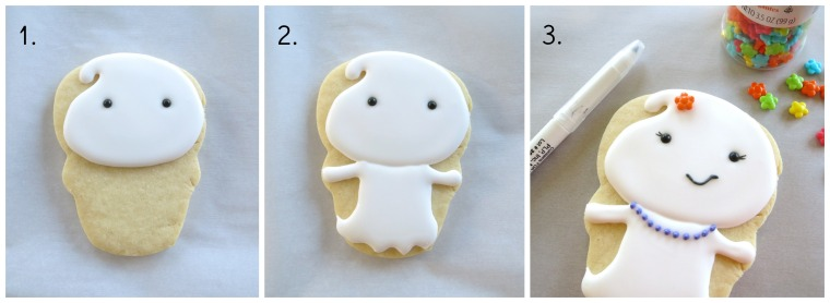 Easy ghost cookie how-to by Melissa Joy