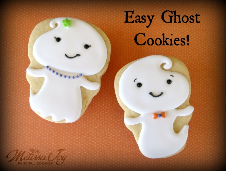 Easy Ghost Cookies by Melissa Joy