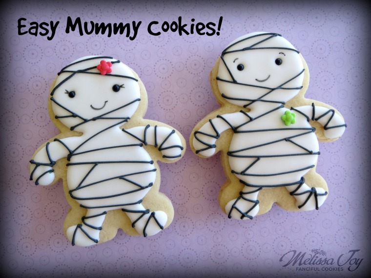 Easy Mummy Cookies by Melissa Joy