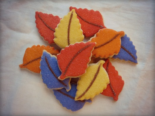 accent leaves for gratitude tree cookies