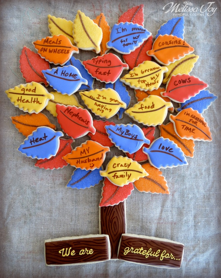 Gratitude Cookie Tree Platter by Melissa Joy