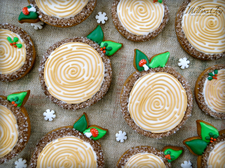 woodland christmas log cookies by melissa joy - Woodland Christmas