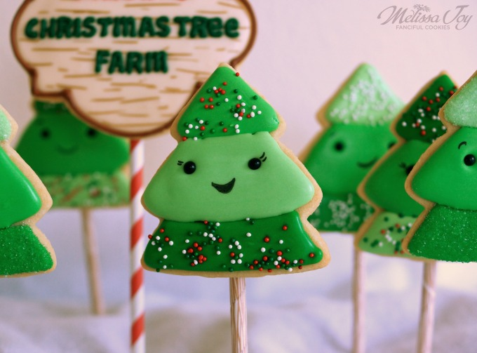 Christmas Tree Farm Cookie by Melissa Joy
