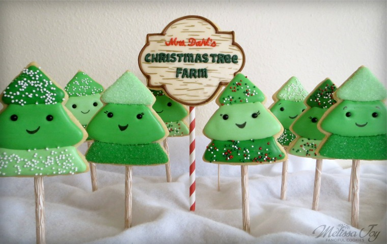 Christmas Tree Farm Cookies by Melissa Joy