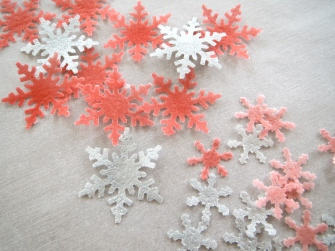 wafer paper snowflakes