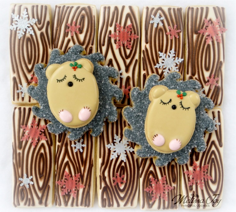Woodland Christmas Hedgehog Cookies by Melissa Joy