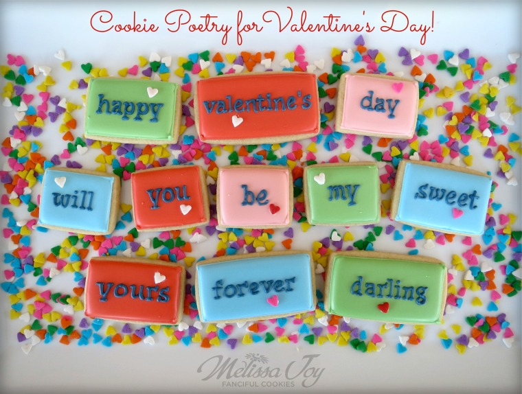 Cookie Poetry for Valentine's Day by Melissa Joy Cookies